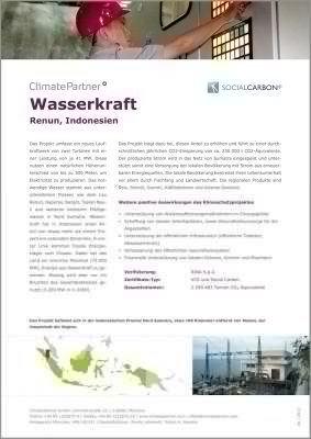 Wasserkraft Infoblatt